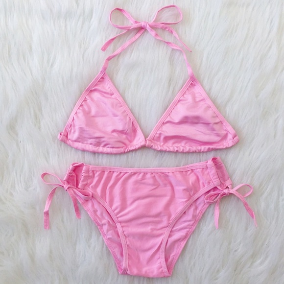 c901033254 ❤️SALE❤️ simple light pink bikini set NWT
