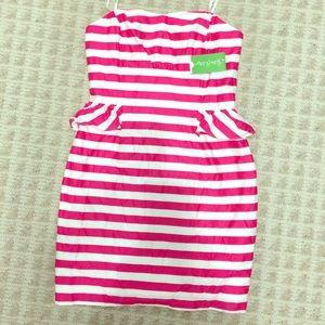 Lilly Pulitzer Peplum Stripe Dress