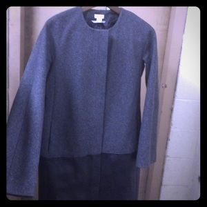 JCREW collarless dress coat