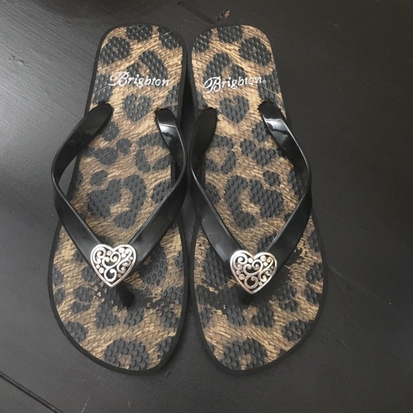 58ff31bfe Brighton Shoes - Brighton leopard flip flops