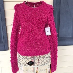 ⭐️SALE⭐️ NWT Free People magenta colored sweater