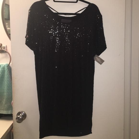 435e2cef90 Victoria Secret- Black Sequin T-Shirt Dress - Sm