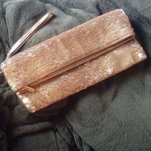 Handbags - Michael Kors Gold Sequin Clutch