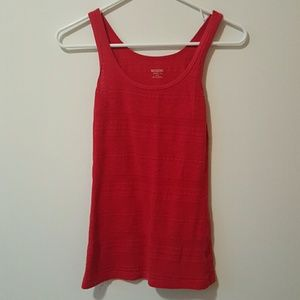 Bright Red Tribal Pattered Stretchy Tanktop