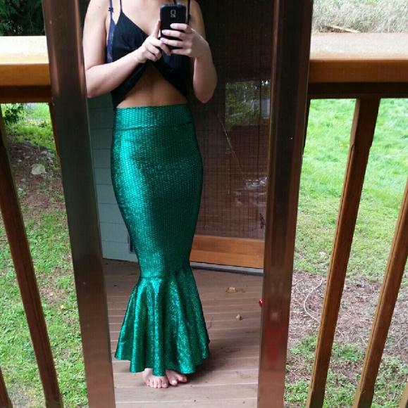 2ab5f75725e61 Coquetry Clothing Skirts | Green Iridescent Mermaid Skirt | Poshmark