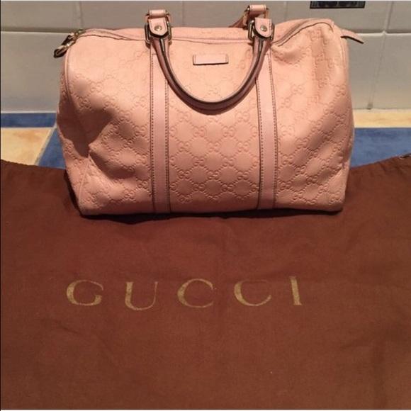 05f1d85026eb Gucci Bags | All Leather Pink Blush Joy Boston Bag | Poshmark