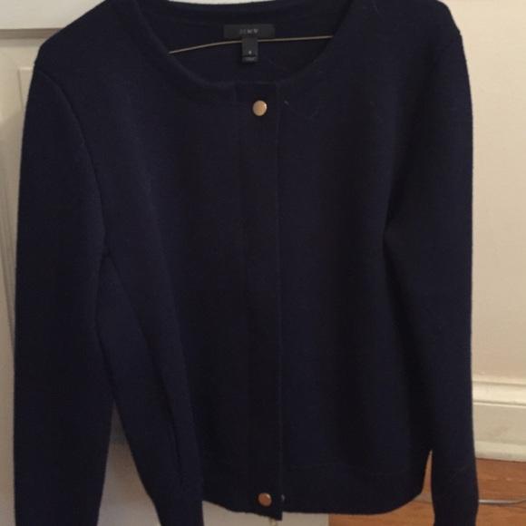 78% off J. Crew Sweaters - J Crew Navy Blue Merino Wool Cardigan ...