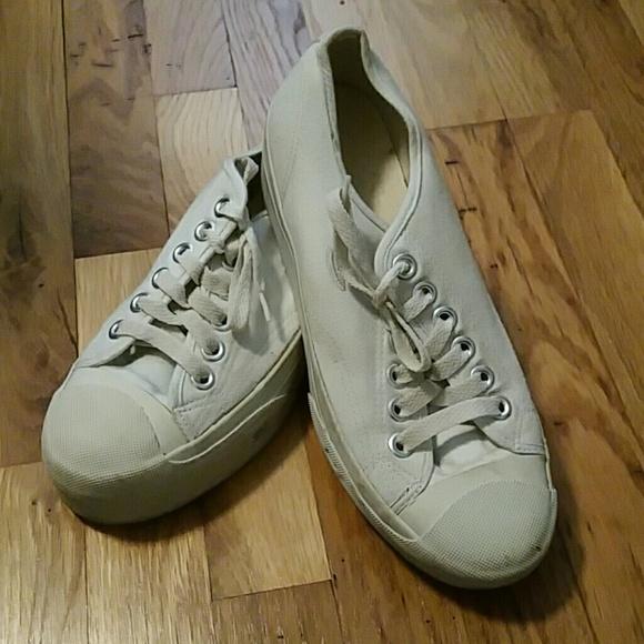 Skechers White Canvas Platform Sneakers