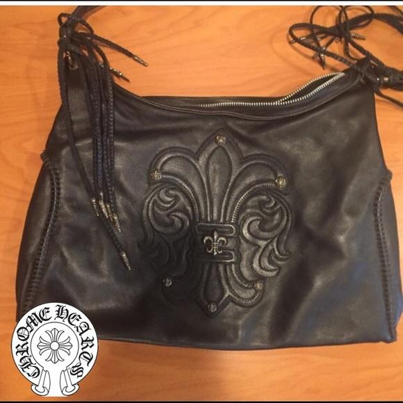 e46613a44aa0 Chrome Hearts Handbags - Chrome Hearts leather shoulder bag  like new