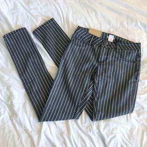 Xhilaration Pants - Xhilaration Gray and White Stripe Pants BRAND NEW