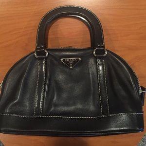 56% off Prada Handbags - SOLD????PRADA BLACK ITALIAN LEATHER ...