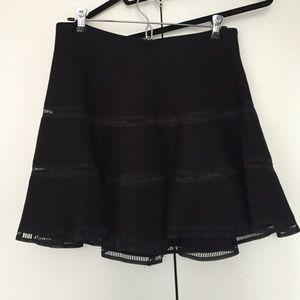 Joa Tiered Flouncy Black Skirt