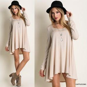 """Waltz"" Long Sleeve Mini Dress"