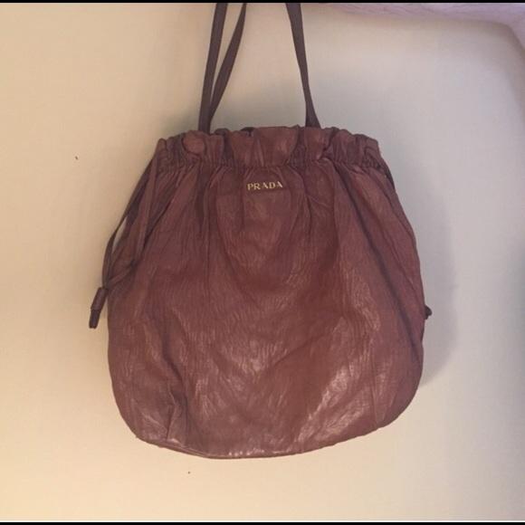 prada handbags cheap prices - 70% off Prada Handbags - Prada brown Nappa leather antique large ...