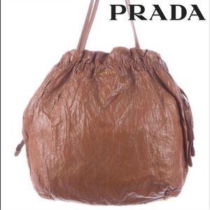 prade handbags - 70% off Prada Handbags - Prada brown Nappa leather antique large ...