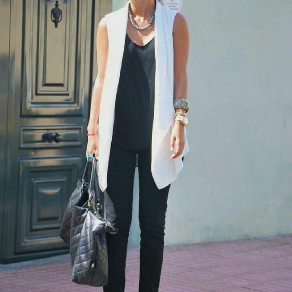 f64d461435 White Vest Zara Poshmark Pick Host Coats Jackets Long amp  wqwBv0
