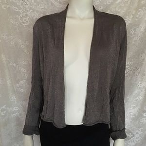 Eileen Fisher Glitter Cropped Cardigan