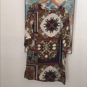 Print shift dress