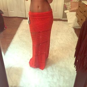 Free People Dresses & Skirts - Vibrant crochet maxi skirt nwt