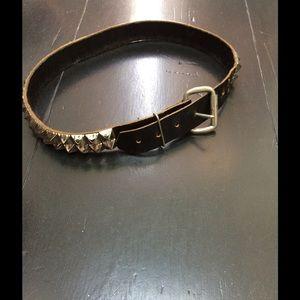 True vintage pyramid stud leather belt SALE