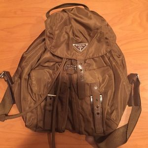 75% off Prada Handbags - Prada backpack in brown. Authentic from ...