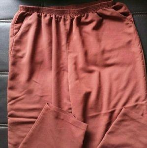 teddi Pants - Wardrobe basic, plus size work pants in rust brown