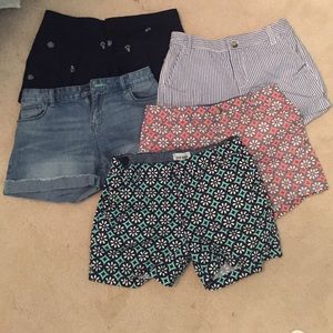 5 Pairs of adorable shorts
