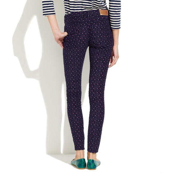 Madewell - Madewell skinny ankle printed corduroy pants from ...