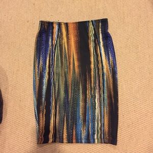 Beyoncé for h&m printed midi skirt