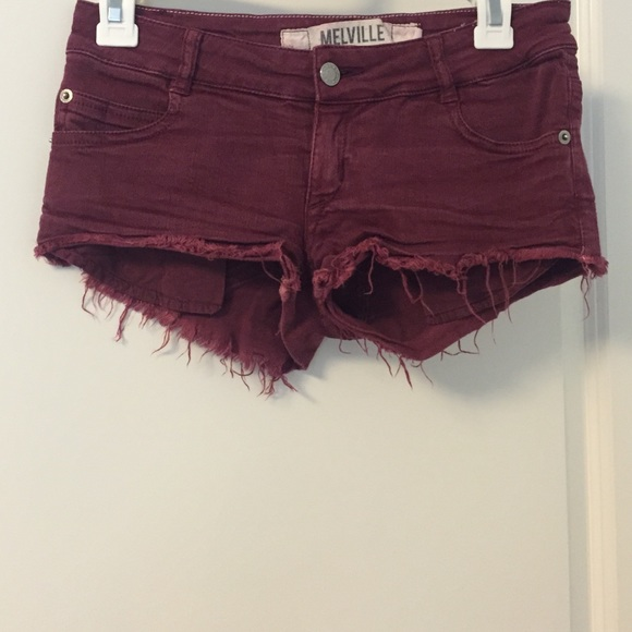 63% off Brandy Melville Pants - Maroon jean shorts from Yassi's ...