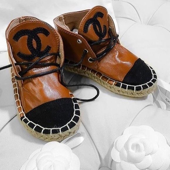 chanel kids. kids chanel espadrille boots r