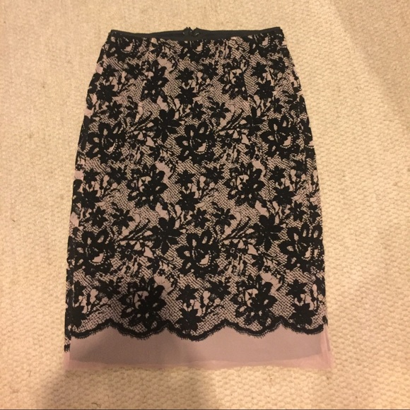 Zara Dresses & Skirts - Zara flocked printed lace midi skirt