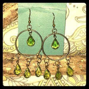 Boho Green teardrop earrings