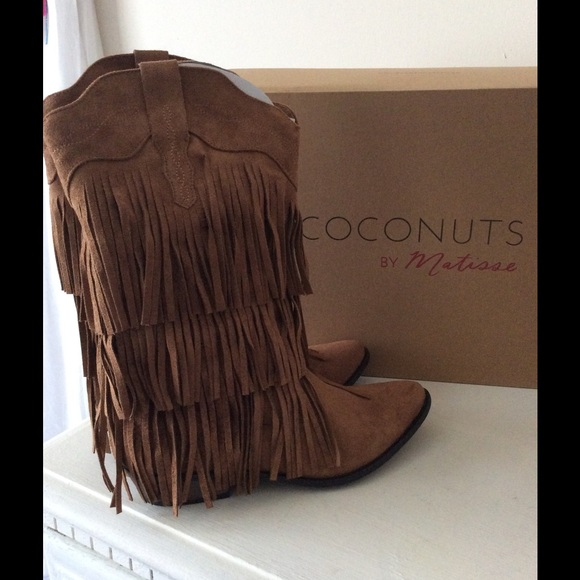 Coconuts - COCONUTS by Matisse Saloon Saddle Fringe Boots from ...