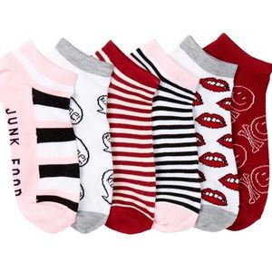 Junk Food Clothing Accessories - 💥SALE💥 Junk Food No Show Lip Socks - pack of 6