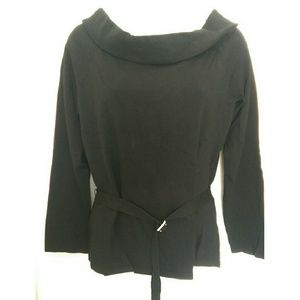 New York & Company Tops - New York & Company black belted blouse
