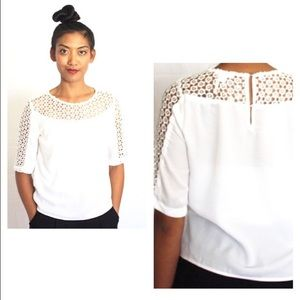 White boxy blouse