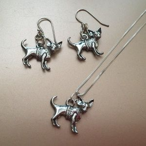Jewelry - Chihuahua necklace & earring set 🐾❤️