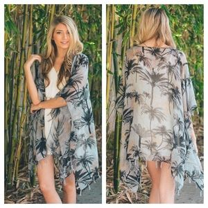 Sweaters - Palm Tree Kimono