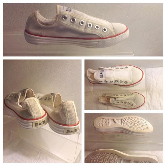 Converse CT All Star Hi Top Trainers Cream//White Shoes UK Size 4 Euro 36.5 BNIB
