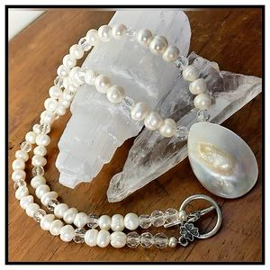 Vintage Jewelry - 🎉🎉HP🎉🎉Vintage Artisan Blister Pearl Necklace✨