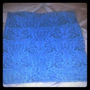 Blue bandage skirt w/ print