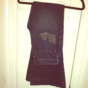 Denim - Designed Pocket Bohemian Flared Jeans