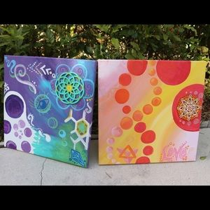 Paintings - 10 x 10 inch canvas : original art