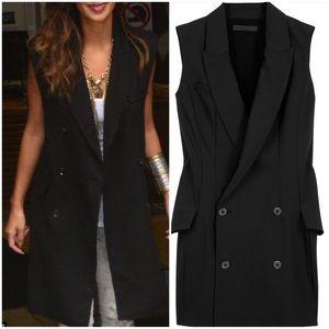 Oversized Black Vest Jacket