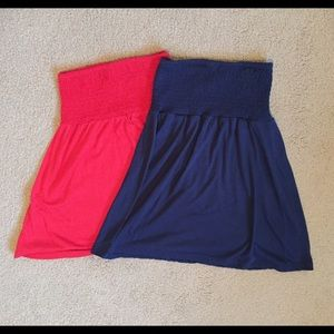 Navy blue and red top take both for $8