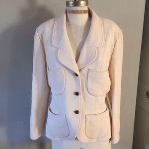 CHANEL Jackets & Blazers - Beautiful CHANEL cream jacket blazer!