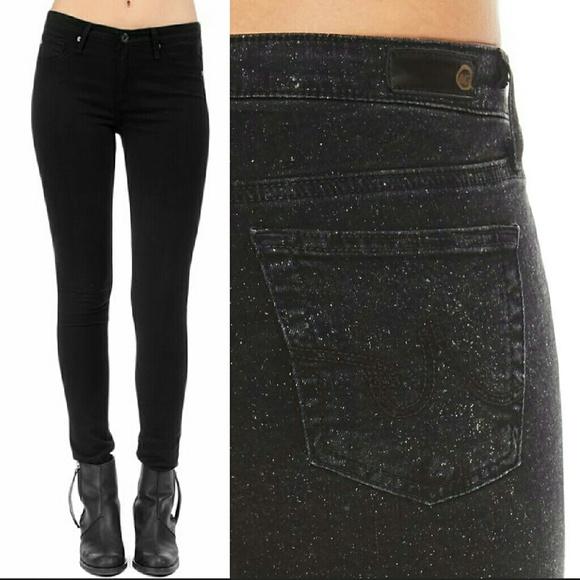 052d753734e6 AG Adriano Goldschmied Jeans | Ag Legging Black Glitter Super Skinny ...