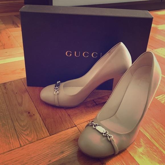 121df9f85f Gucci Shoes | Nude Pumps Silver Hardware Size 37 | Poshmark