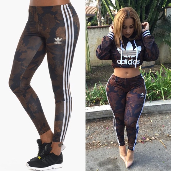 Adidas Leggings Leaf Nwt Print Originals Camo fgvYby76